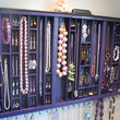 Plum Purple Necklace Organizer by BlackForestCottage on Etsy