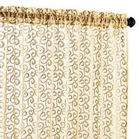 Pier 1 Imports - Product Detail - Embroidered Scroll Sheer Panel