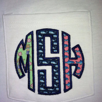 Vineyard Vines monogram pocket t-shirt