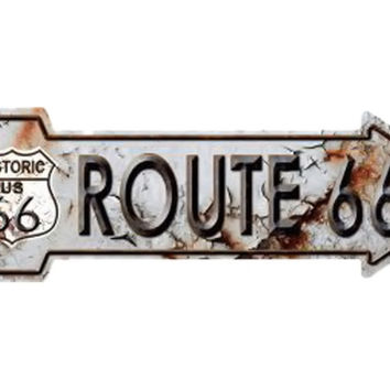 Smart Blonde Outdoor Decor Rusty Route 66 Novelty Metal Arrow Sign A-119
