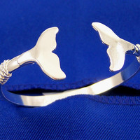 Whale Tail Nautical Bracelet  Crafted on Cape Cod out of Sterling Silver
