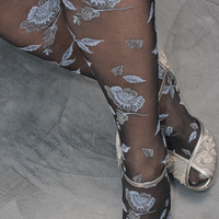 Socks By Sock Dreams  » Socks » Floral Flocked Tights