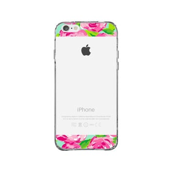 Lilly Pulitzer Roses iPhone 6 Plus Clear Case