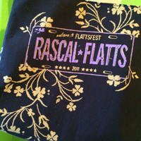 Rascal Flatts Purse Upcycled Concert T-shirt Bag