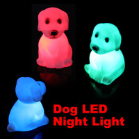 D1U# Color Changing LED Xmas Mood Lamp Night Lamp Party Decoration Cute Dog Light Free Shipping