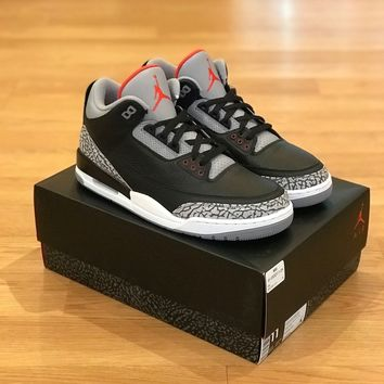 AUGUAU Air Jordan Retro 3 Black Cement