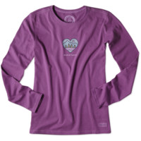 Women's Wild At Heart Long Sleeve Crusher Tee|Life is good