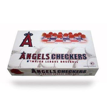 Anaheim Angels vs. Los Angeles Dodgers MLB Rival Checker Set