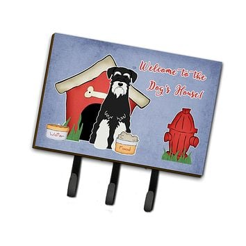 Dog House Collection Standard Schnauzer Salt and Pepper Leash or Key Holder BB2787TH68