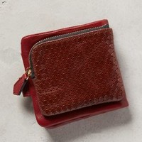 Beracamy Paris Honeycomb Leather Wallet Crimson One Size Hair