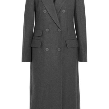 DKNY - Embellished wool-blend felt coat