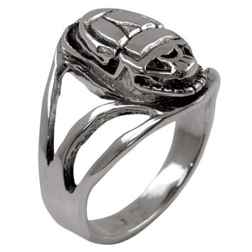Egyptian Scarab - Silver Ring