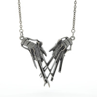 Edward Scissorhands Claws Hands Pendant Necklace