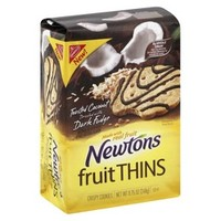 Nabisco Newtons Coconut Dark Fudge Fruit Thins Crispy Cookies 8.75 oz