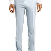 Men's Topman Light Blue Skinny Fit Suit Trousers,