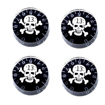 4pcs Control Speed volume Knobs Skull Crossbones for Electric Guitar plastic = 1929712580