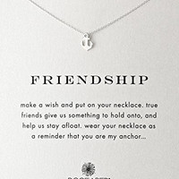 """Dogeared """"Reminder"""" Friendship Anchor Silver Chain Necklace, 16"""""""