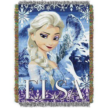 Disney Frozen Elsa Cold Hearted 48x60 Woven Tapestry Throw FREE US SHIPPING