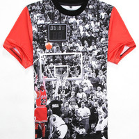 Black Emoji Michael Jordan Lore 23 3D Print Short Sleeve Graphic T-Shirt