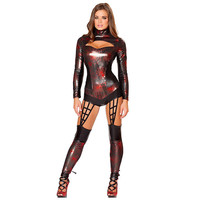 Black Wet Look Web Crawler Halloween Costume LAVELIQ