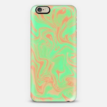 SUMMER WAVES IN GREEN - PHONE CASE iPhone 6 case by Nika Martinez | Casetify