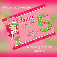 Strawberry shortcake invitation.