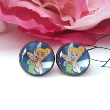 Sweet Pixie Stud Earrings - Fairy - Fairy Wings - Pixie Dust - Pixie Wings - Pixie Earrings - Studs - Earrings - Fake Plugs - Plugs