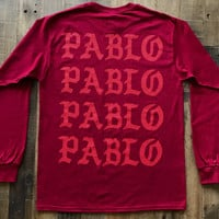 Pablo Pablo Pablo / Paris Pop Up Red Long Sleeve Tee Shirt / The Life of Pablo Yeezy Tour