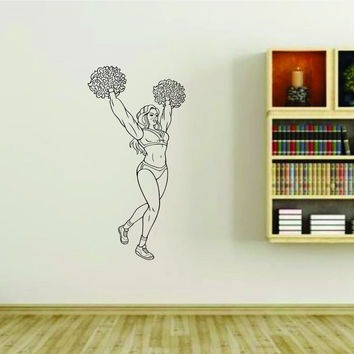 Cheerleader Cheerleaders Cheer Version 120 Vinyl Wall Decal Sticker