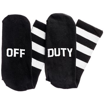 Off...Duty Socks in Black and White
