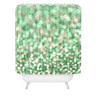 Lisa Argyropoulos Holiday Cheer Mint Shower Curtain