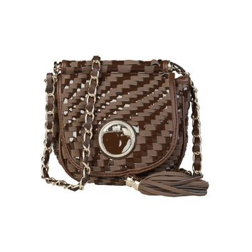 Cavalli Class Brown Crossbody Bag