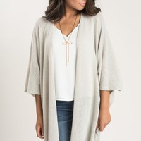 Jane Grey Asymmetrical Knit Cardigan