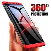 H&A 360 Full Coverage Phone Case For Samsung Galaxy S9 S8 Plus S6 S7 Edge PC Shockproof Cover For Samsung S9 Plus Note 8 Cases