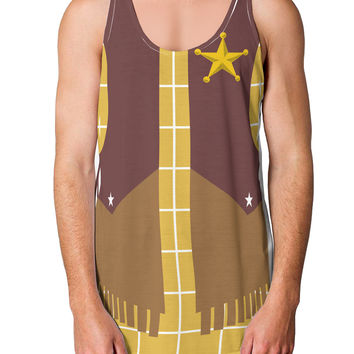 Cowboy Yellow AOP Loose Tank Top Single Side All Over Print