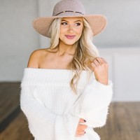 Fuzzy OTS Sweater- White - Thirty One Boutique