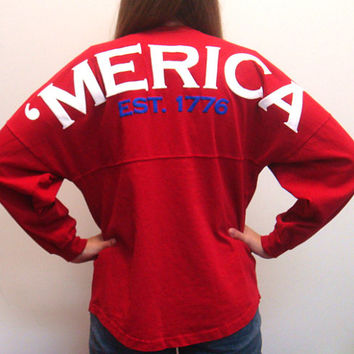 MERICA Spirit Football Jersey (Red)
