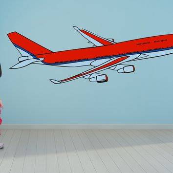 Airplane airliner jet wall art decals