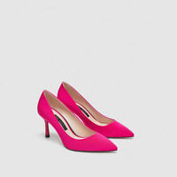 FABRIC HIGH-HEEL COURT SHOES DETAILS