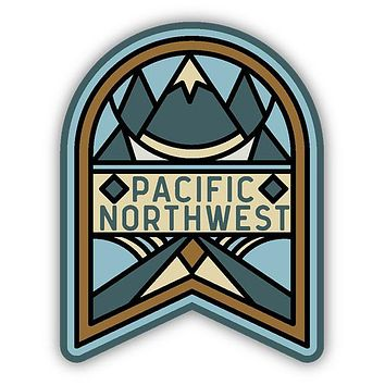 PNW Mosaic Mountain Sticker