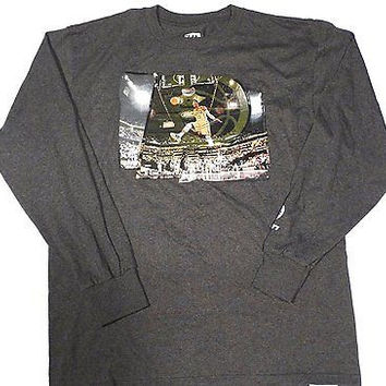 Indiana Pacers Majestic Paul George #13 Long Sleeve T Shirt Size L