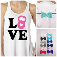 Love Kettlebell. Womens Workout Tank Top, Kettlebell Tank Top, Workout Tank Top. Kettlebell Tank