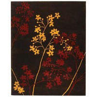 Safavieh SOH316A-8R Soho Brown and Red Round: 8 Ft. In. x 8 Ft. In. Area Rug - (In Round)