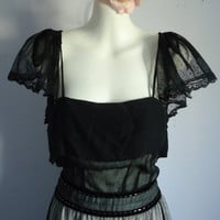 Vintage Couture Chloe Dress in Black Silk by MadMakCloset on Etsy