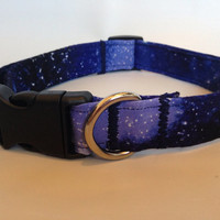 Space Cosmo Galaxy Dog Collar