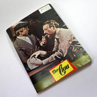 vintage sketchbook bullet journal | film programme | The Sting for movie and film lovers hippies | handmade