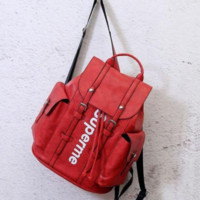 Fashion Stylish Supreme Leather Daypack Travel Bag