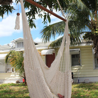 Off White Almanza Hammock Chair VIEW VIDEO