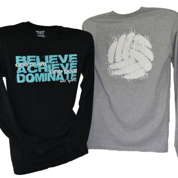 BELIEVE ACHIEVE DOMINATE - One Team One Goal Crew Neck Sweatshirt