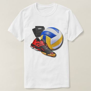 Volleyball Shoe Ball Knee Pads With Your Name T Shirt